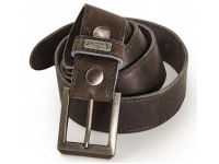 GREY LEATHER BELT-XL